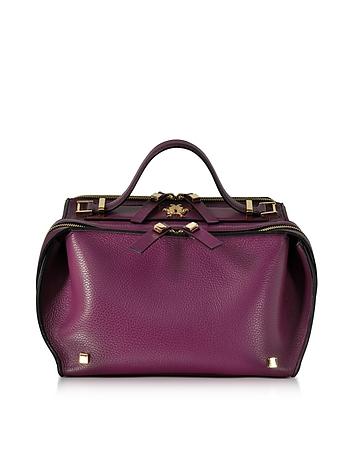 Giancarlo Petriglia - Purple Tumbled Leather Clari Bag w/Eye