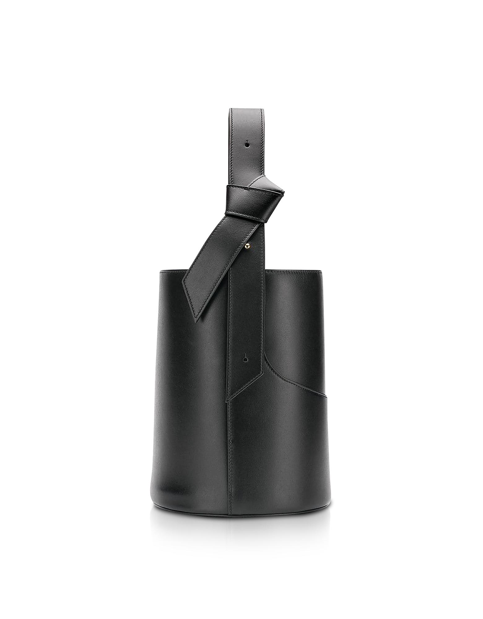Lily Mini Black Bucket Bag