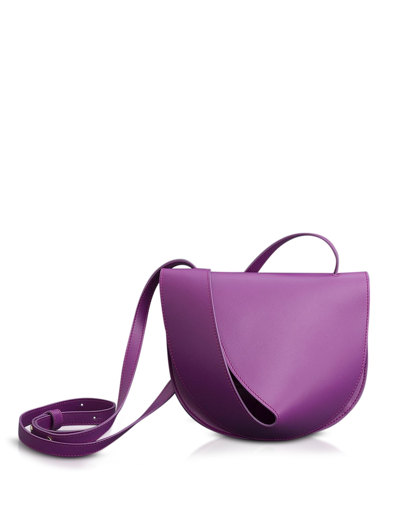 Saddle Orchid-Egret Shoulder Bag