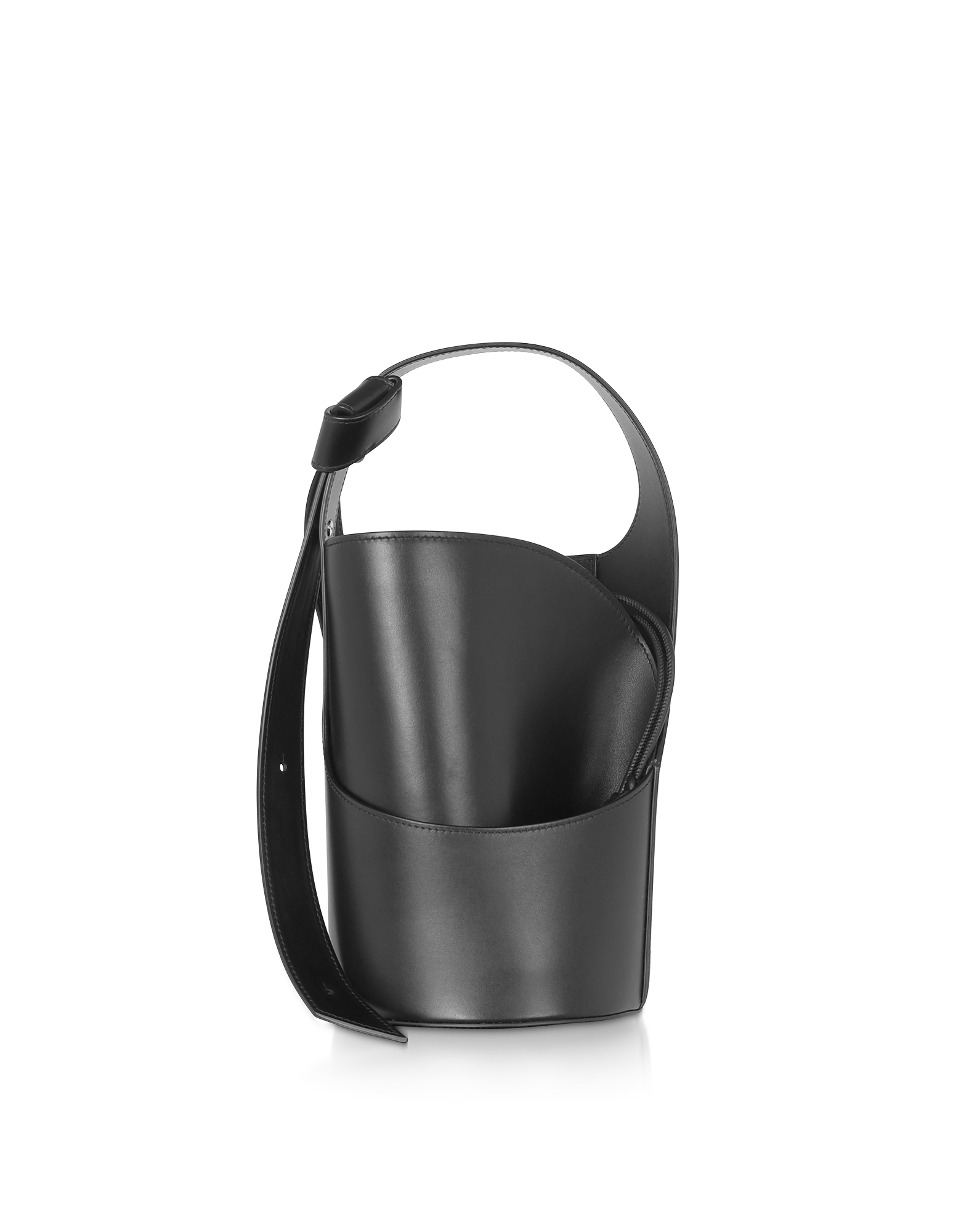 Giaquinto Designer Handbags, Lily Mini Black Bucket Bag