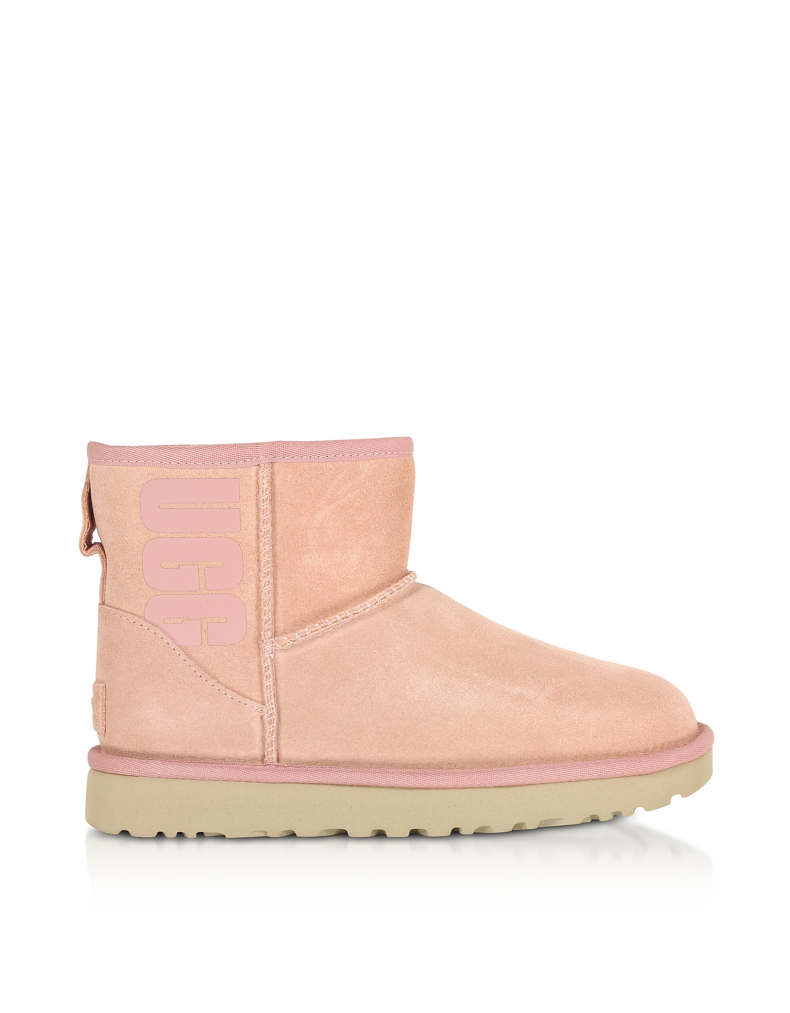 UGG Designer Shoes, Mini Classic Ugg Rubber Logo LA Sunset Boots