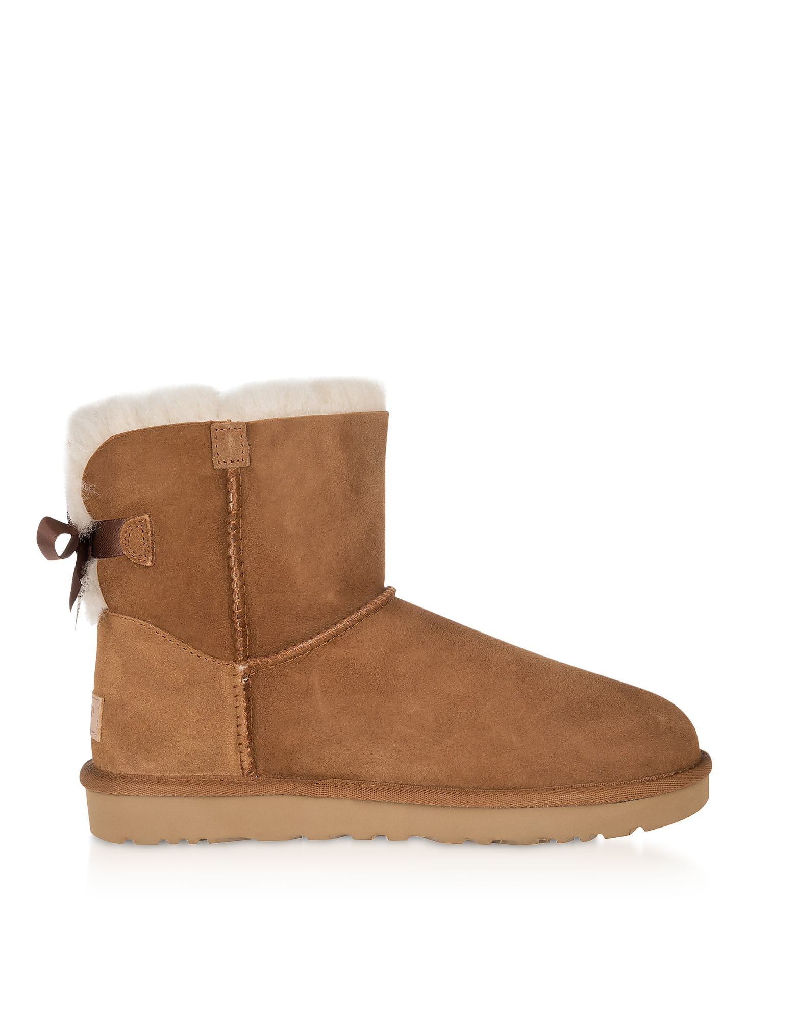UGG Designer Shoes, Chestnut Mini Bailey Bow Boots