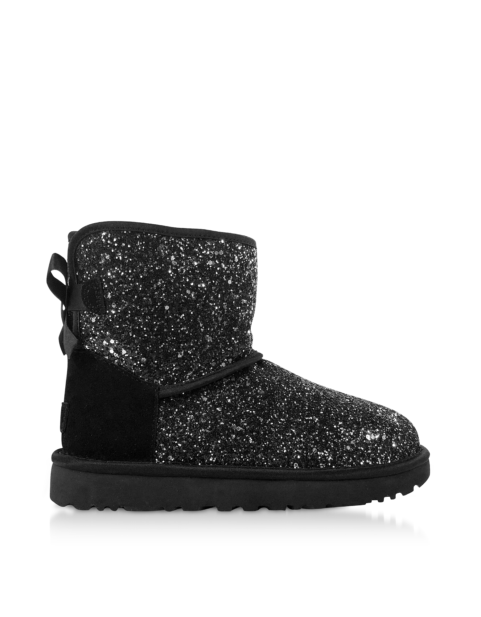 UGG Designer Shoes, Cosmos Black Classic Mini Bow Boots