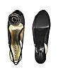 Dreamboat - Black Raphia Flower Slingback Sandal  - Guess