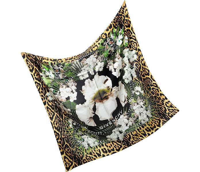 Floral Silk Square Scarf - Givenchy
