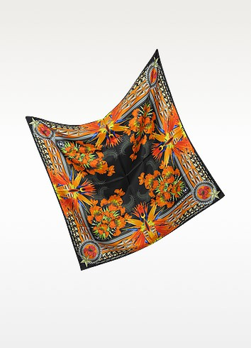 Floral Silk Twill Square Scarf - Givenchy
