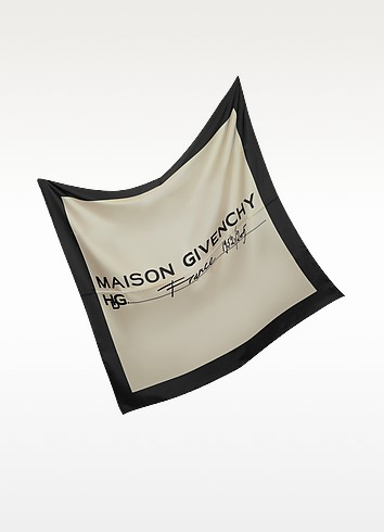 Signature Two Tone Silk Scarf - Givenchy
