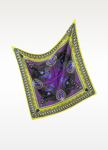 Panther Print Silk Square Scarf - Givenchy