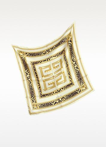 Signature Animal Print Twill Silk Square Scarf - Givenchy