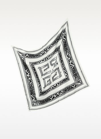 Signature Animal Print Twill Silk Square Scarf - Givenchy