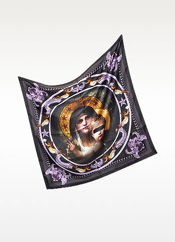 Madonna and Angeles Print Silk Square Scarf - Givenchy