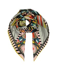 Multicolor Printed Silk Square Scarf - Givenchy