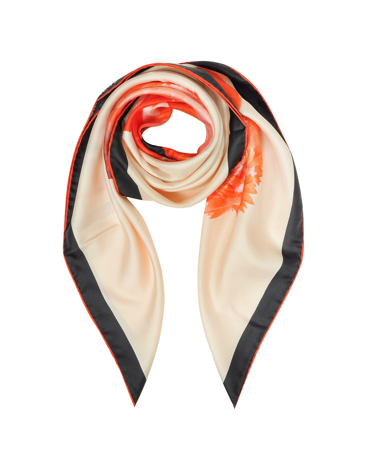 Givenchy Square Scarves, Flamingo Print Silk Square Scarf