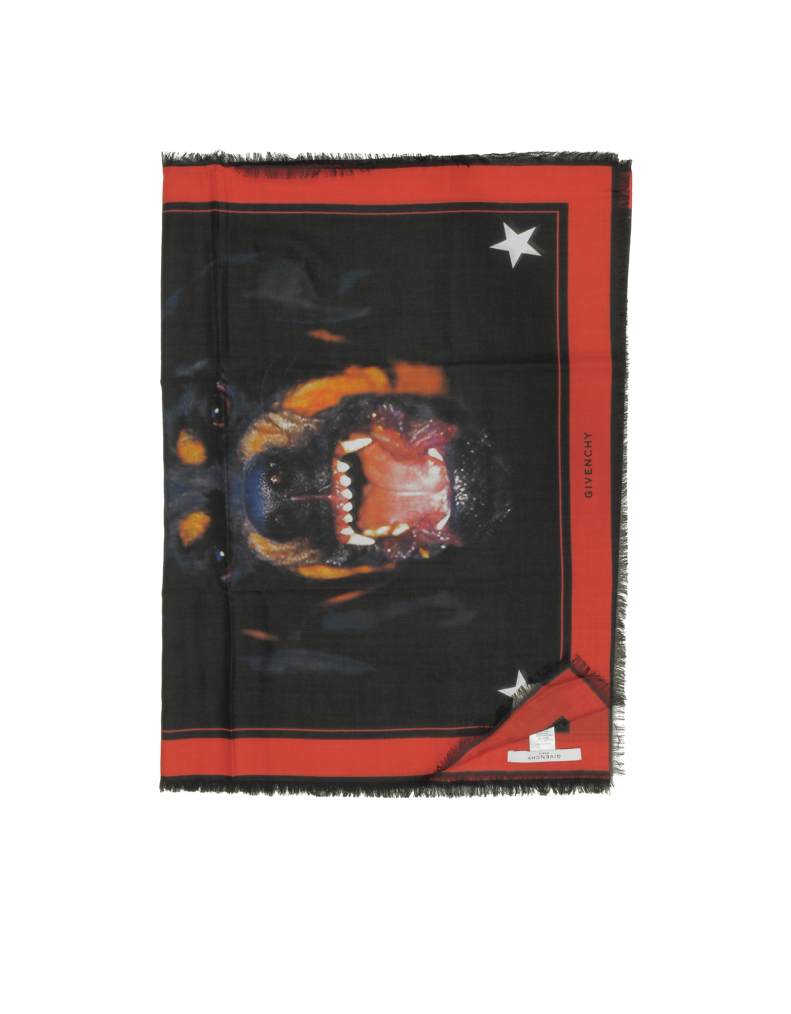 Rottweiler Printed Cashmere and Silk Stole от Forzieri.com INT