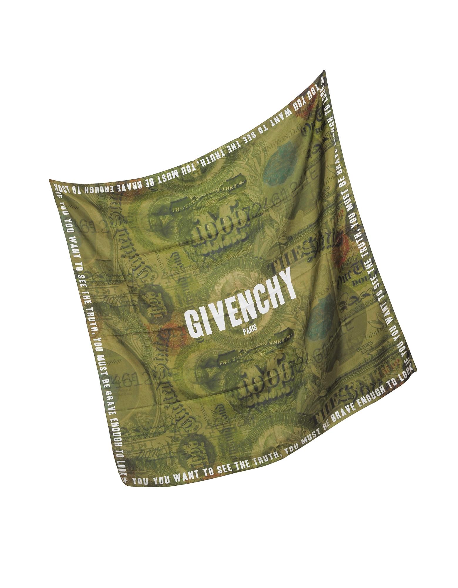Green Cotton and Silk Signature Wrap от Forzieri.com INT