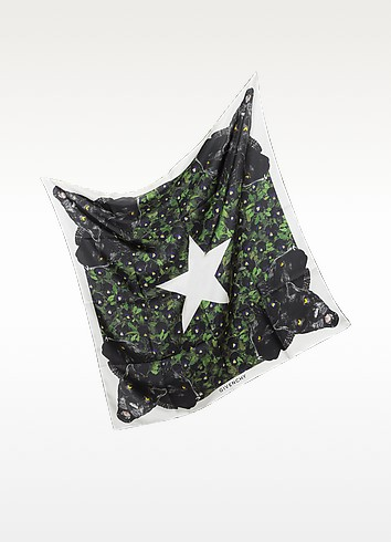 Stars and Panther Print Twill Silk Wrap - Givenchy