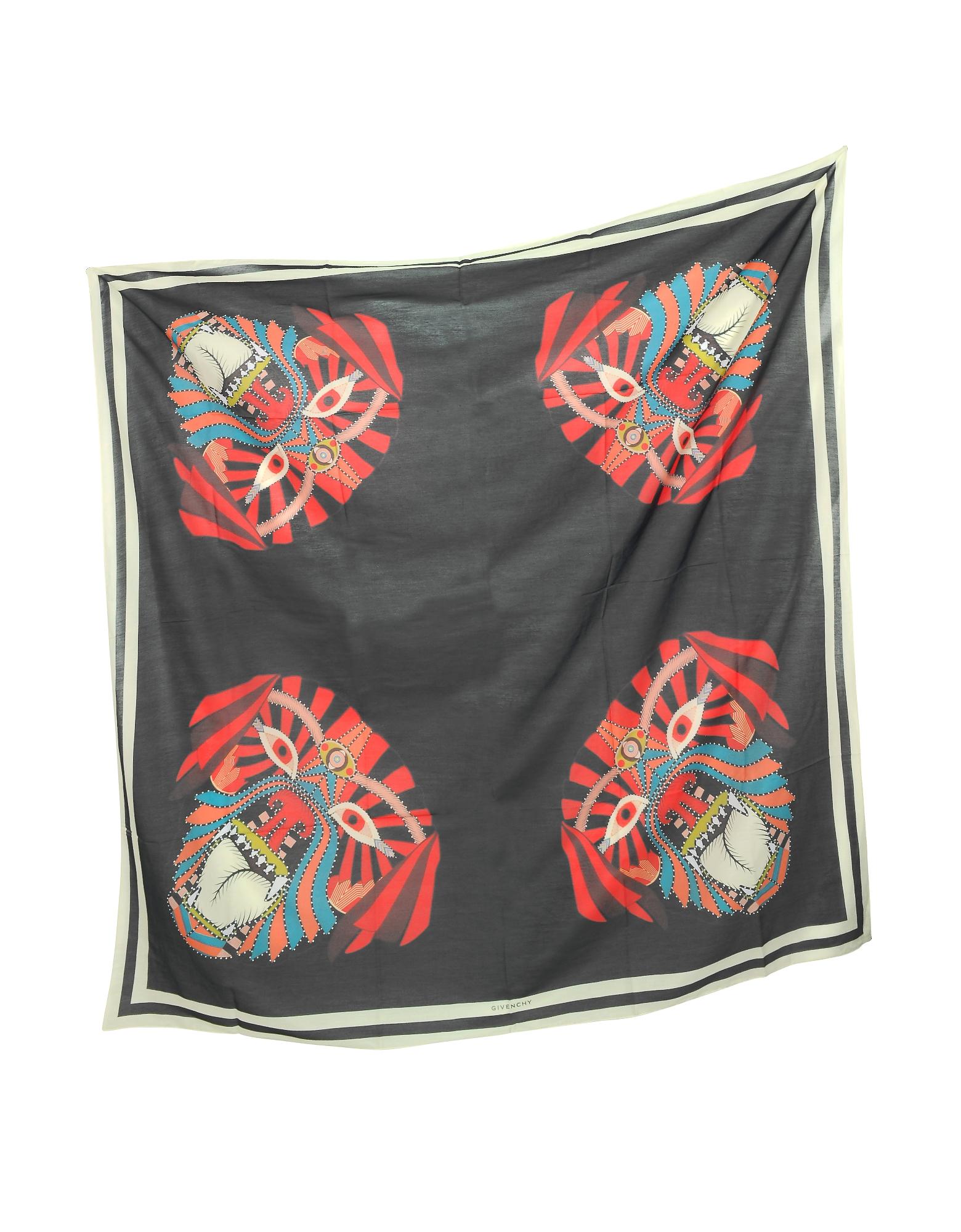 Modal and Silk Stars Printed Wrap от Forzieri.com INT