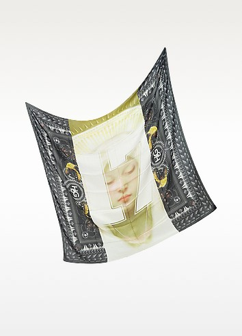 17 Madonna and Rottweiler Cashmere Print Wrap - Givenchy