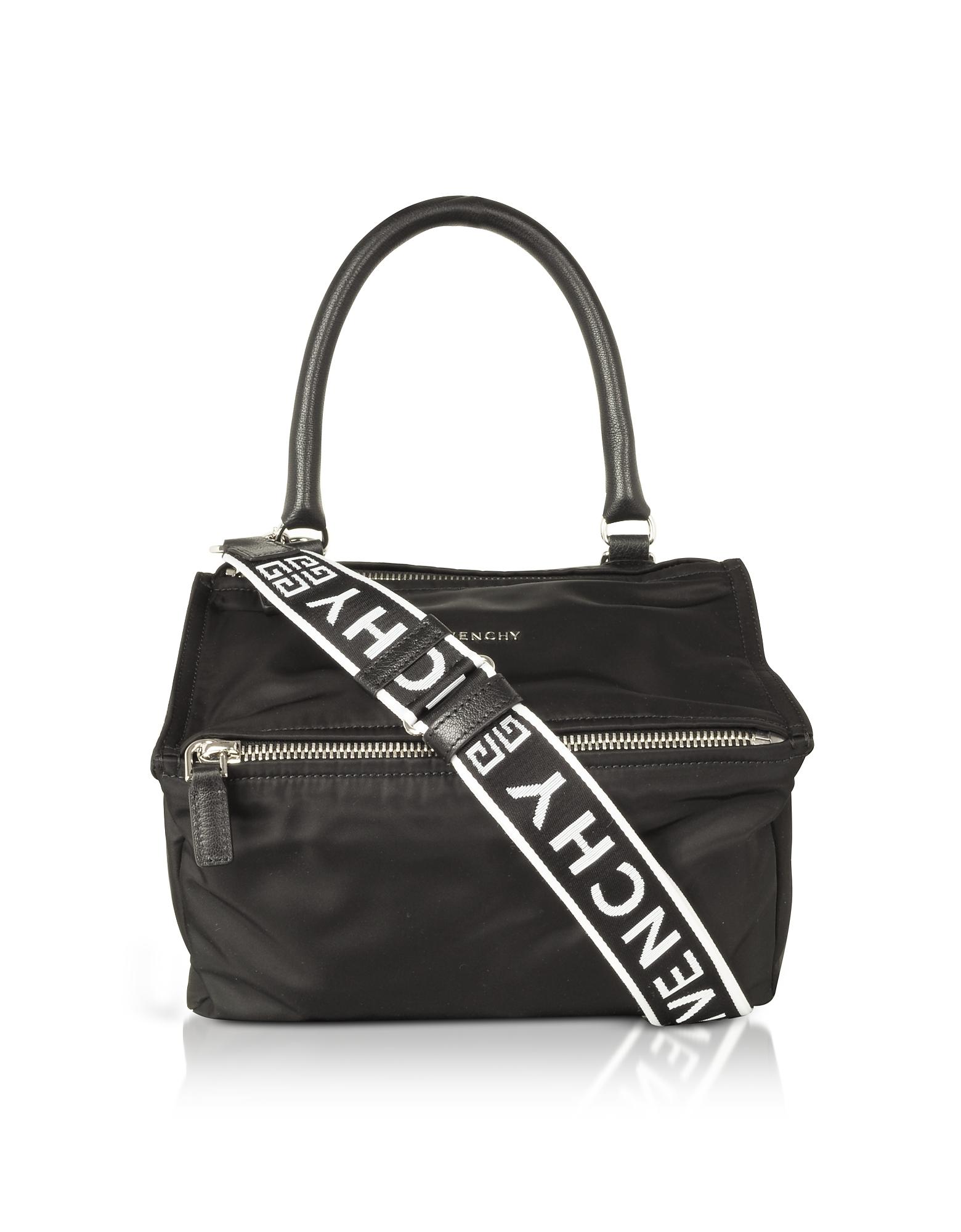 Black Nylon Pandora Small Satchel Bag w/4g strap