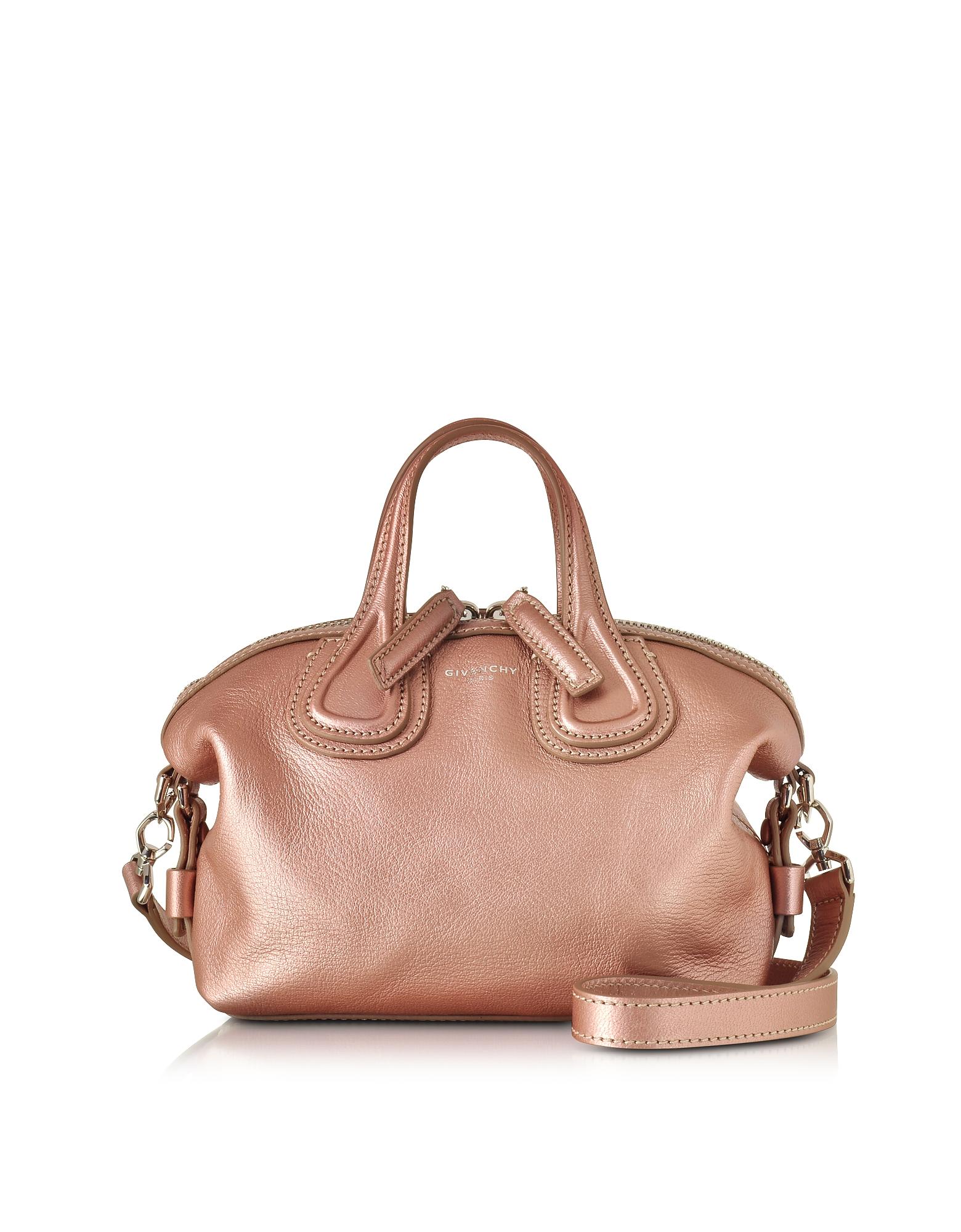 Givenchy Nightingale Micro - Светло-Розовая Кожаная Сумка