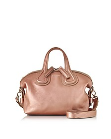 Nightingale Micro Light Pink leather Satchel Bag - Givenchy