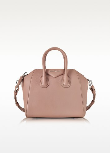 Antigona Mini Old Pink Leather Satchel Bag - Givenchy