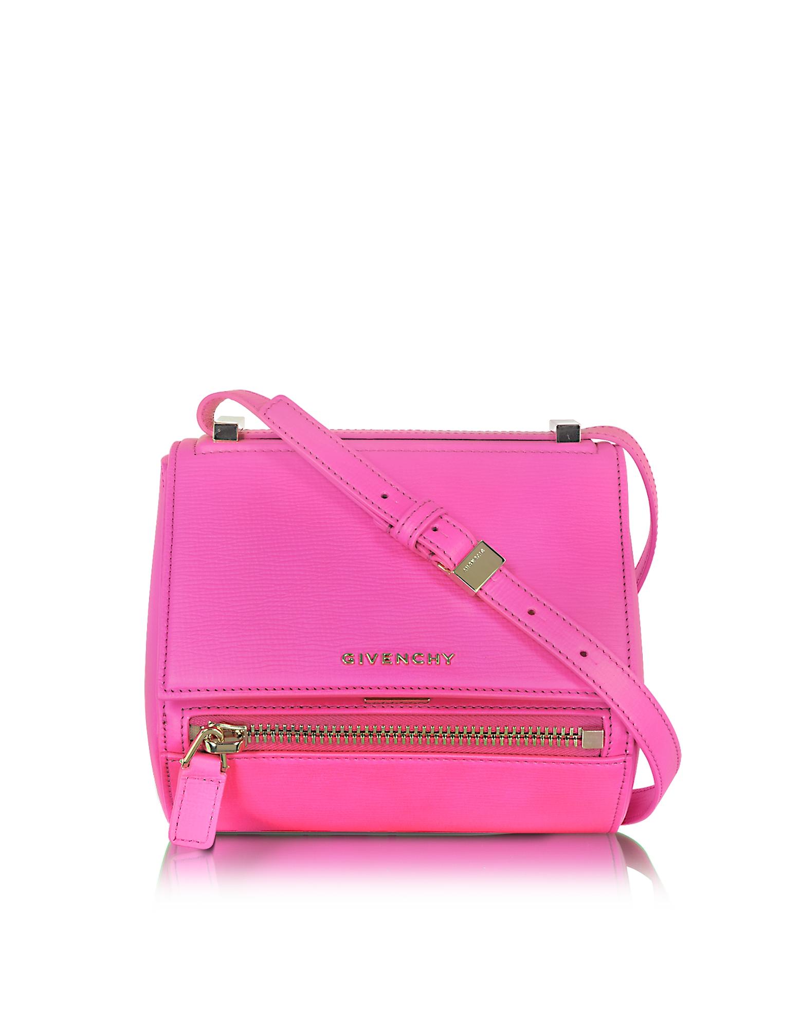 Givenchy Pandora - Маленькая Ярко-Розовая Кожаная Сумка Через Плечо