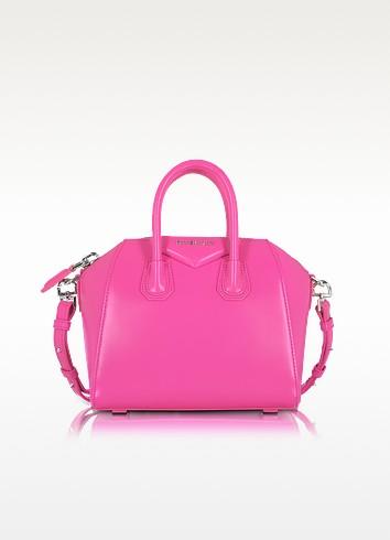 Antigona Shocking Pink Leather Mini Bag - Givenchy