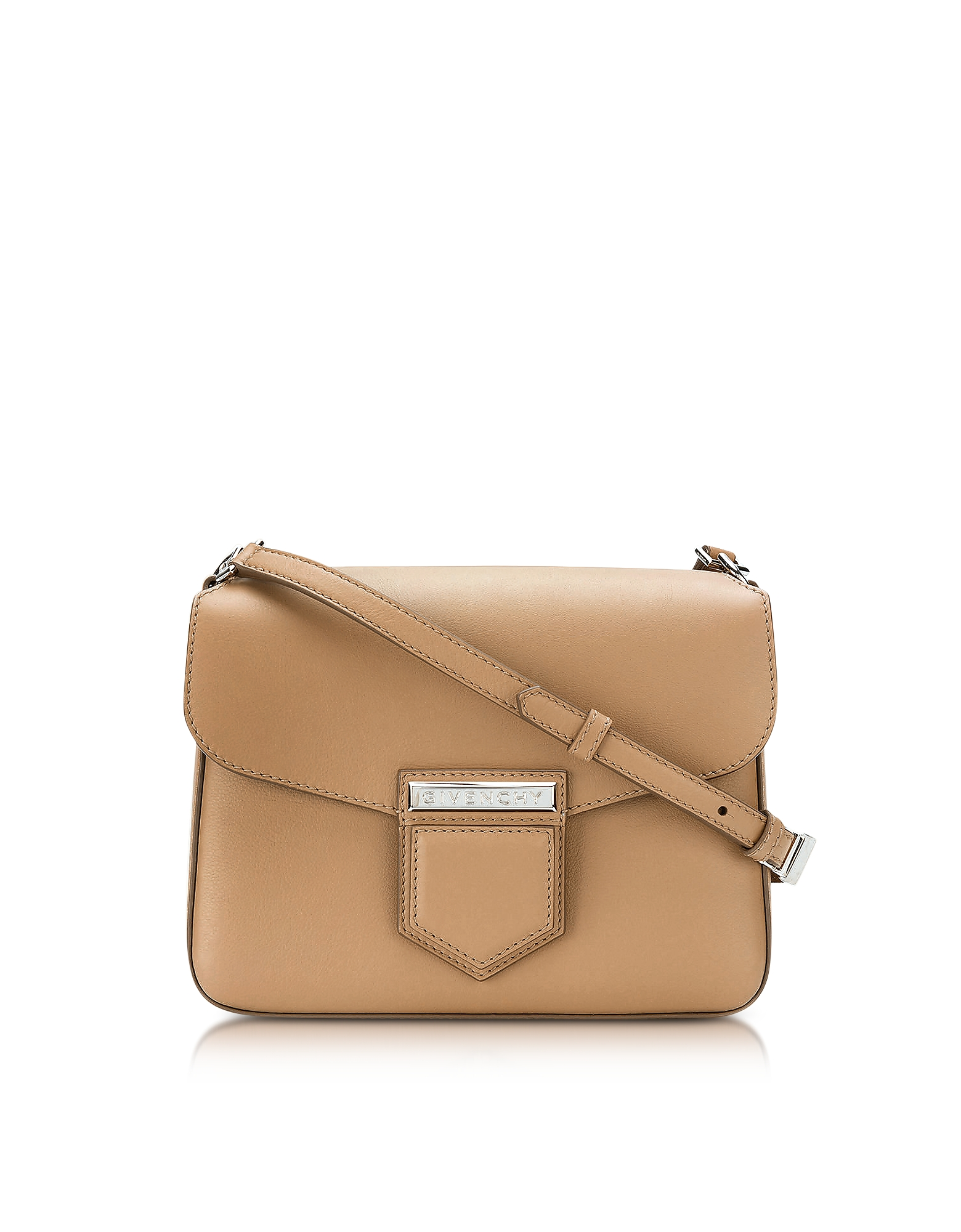 Фото Nobile Small Beige Leather Shoulder Bag. Купить с доставкой
