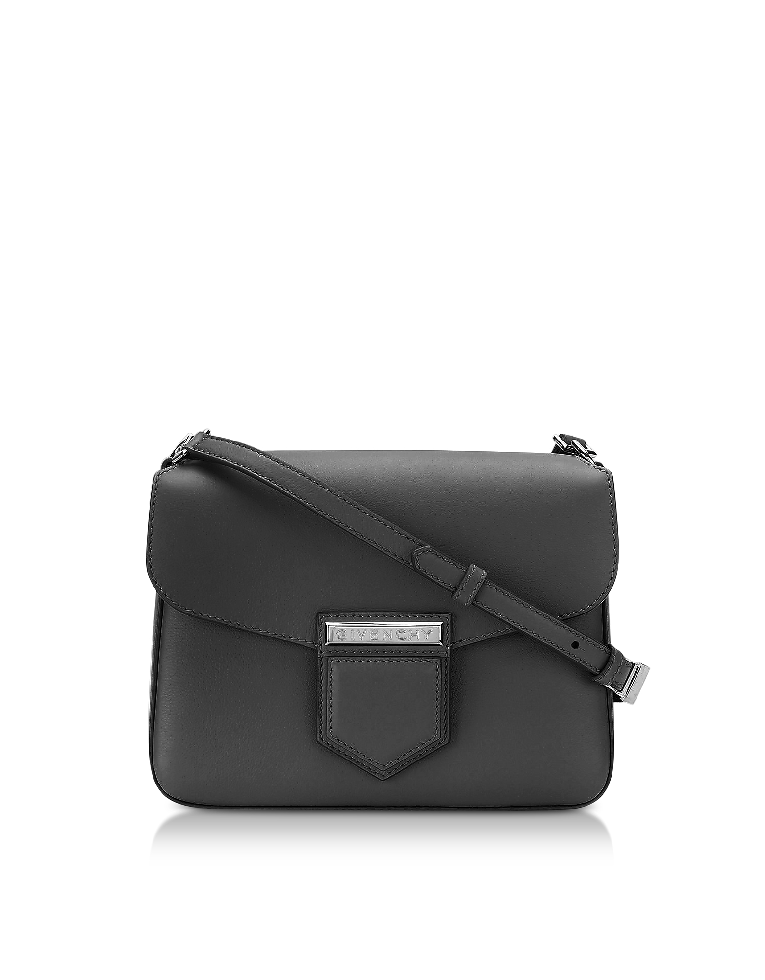 Фото Nobile Small Black Leather Shoulder Bag. Купить с доставкой