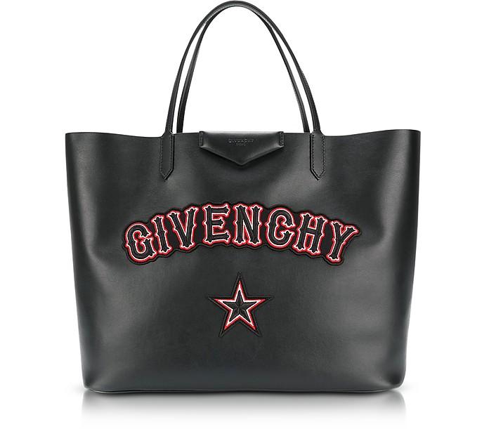 Antigona - Большая Черная Кожаная Сумка Tote - Givenchy