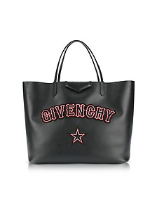 Antigona Large Black Leather Tote Bag - Givenchy