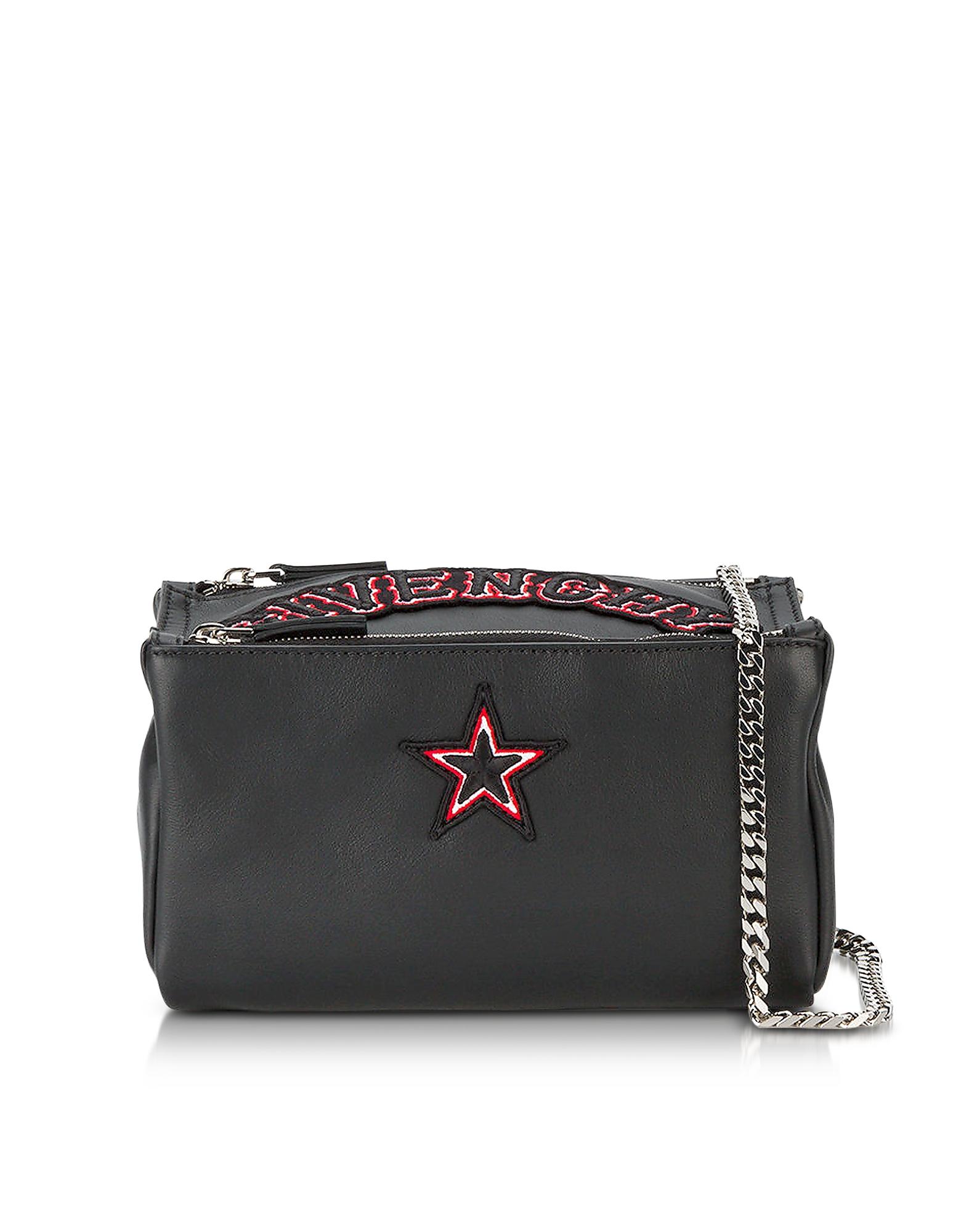 Фото Pandora Chain Black Leather Crossbody Bag. Купить с доставкой