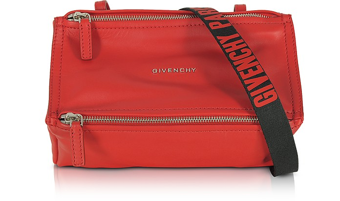 Givenchy Pandora Mini Red Leather Crossbody Bag at FORZIERI
