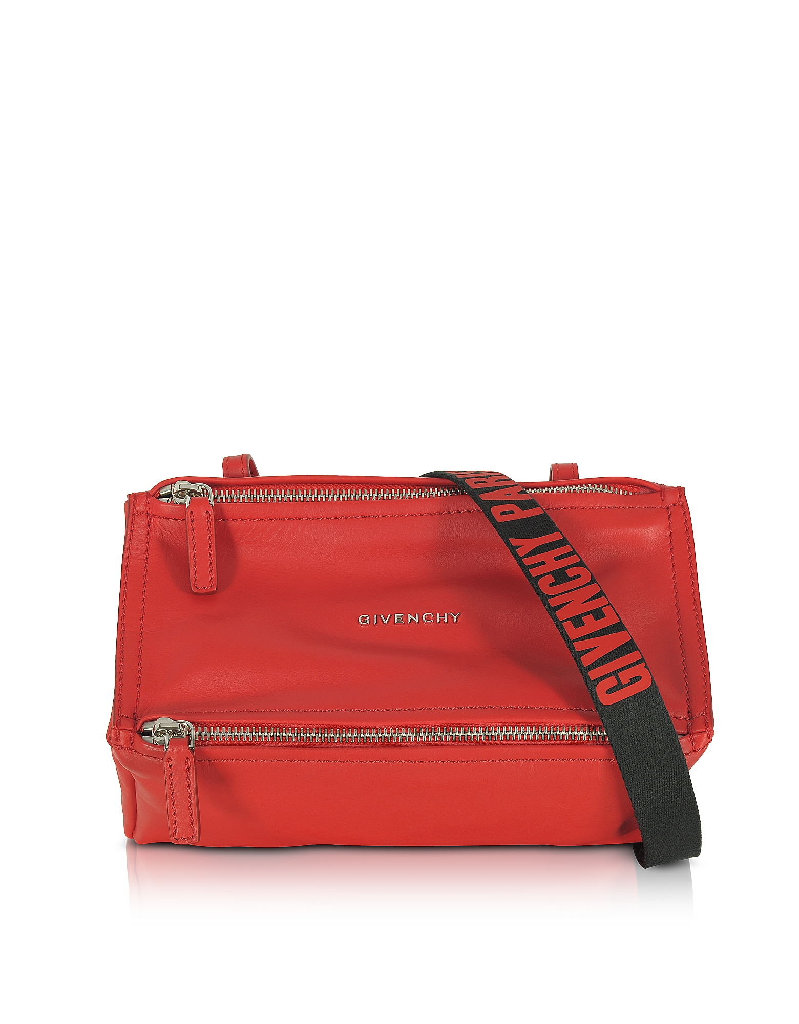 Givenchy Handbags, Pandora Mini Red Leather Crossbody Bag