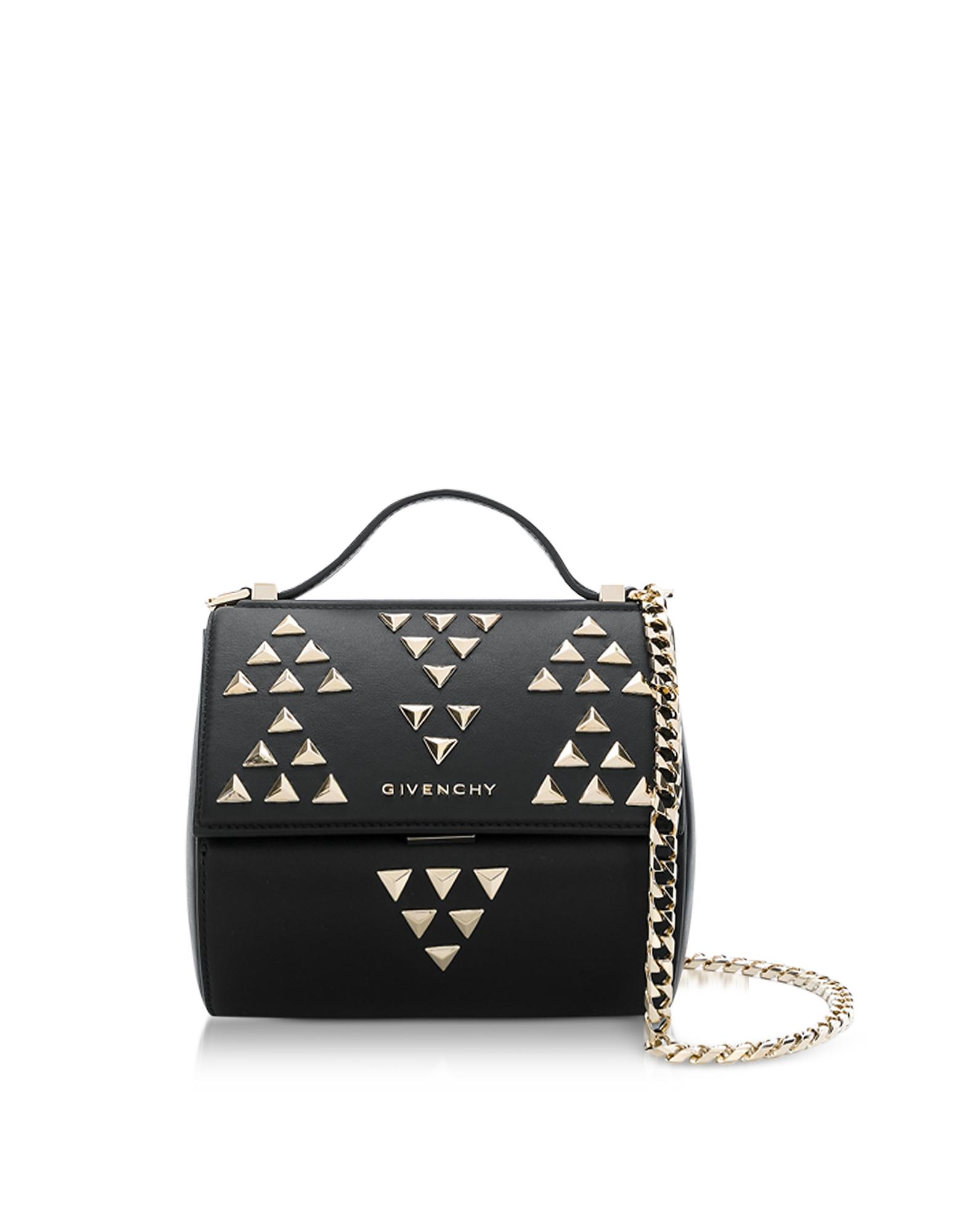 Givenchy Handbags, Black Pandora Chain Mini Shoulder Bag w/Studs