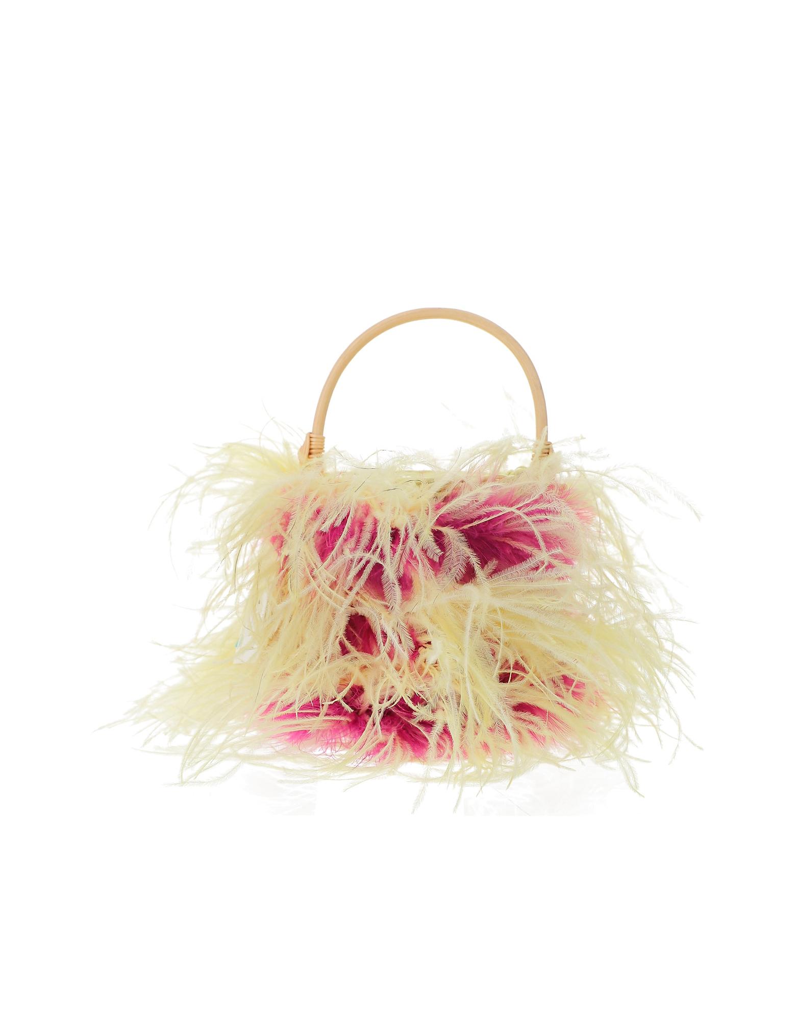 Gatti Designer Handbags, Fuchsia and Pale Yellow Tweety Bag