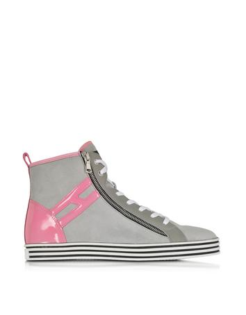 Lux-ID 271609 Grey Suede High Top Sneaker