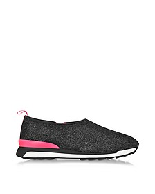 Hogan Rebel Black Lurex Slip-on Sneaker - Hogan