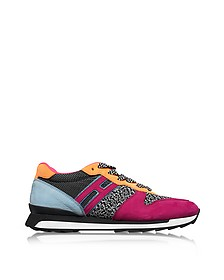 R261 Multicolor Fabric and Suede Sneakers - Hogan