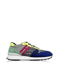 Melange Fabric and Suede Women's Sneakers - Hogan