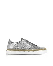 R260 Metallic Leather Low Top Women's Sneakers - Hogan