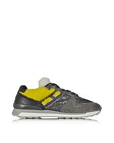 Gray Suede & Fabric Sneaker w/Faux Fur Detail - Hogan Rebel