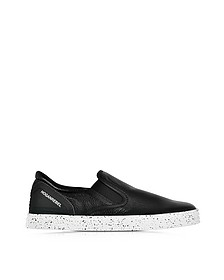 Hogan Rebel R141 Black Leather Slip On Sneaker - Hogan