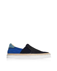 R260 Color Block Nubuk Slip-on Men's Sneakers - Hogan