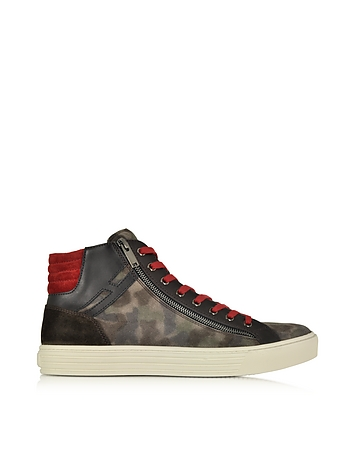 Hogan Rebel - Multicolor Leather and Suede High Top Sneaker