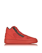 Hogan Pure R28 Sneaker da Uomo High Top in Nabuk Rosso con Zip - hogan - it.forzieri.com