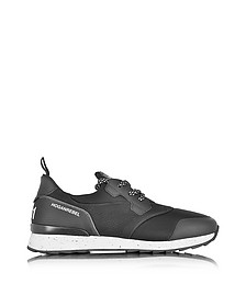 Hogan Rebel Running R261 - Sneakers Basses Homme en Nubuck et Néoprène Noir - Hogan Rebel