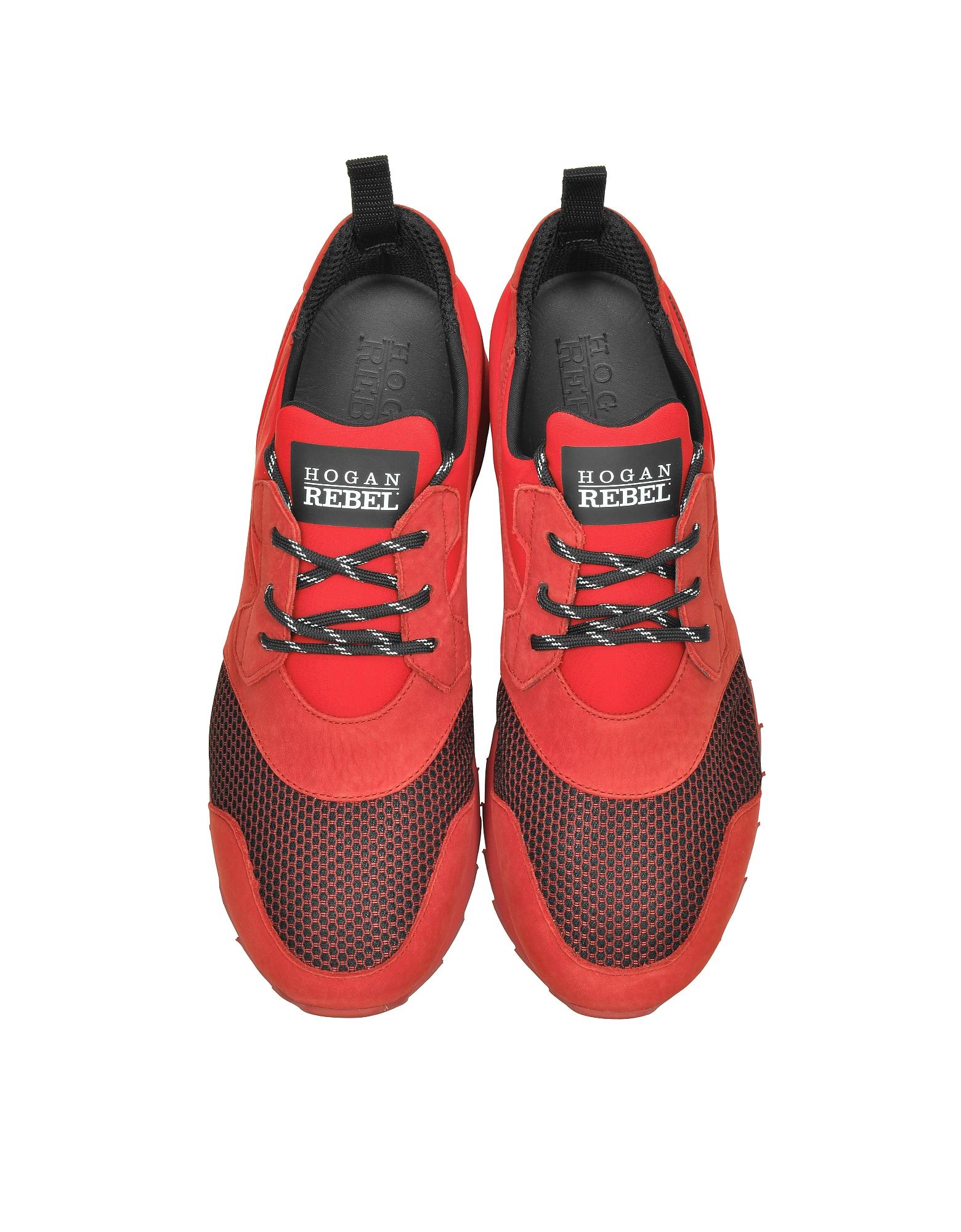 Running R261 Red Nubuck and Neoprene Slip on Men's Sneaker от Forzieri.com INT
