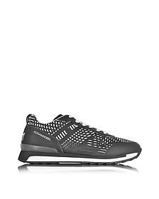 Running R261 Fabric Optical Print w/Matte Rubber Overlay Men's Sneaker - Hogan Rebel